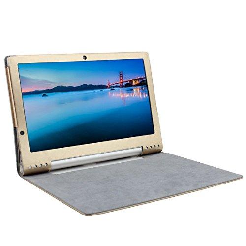 IVSO Lenovo YOGA 2 Pro 13.3-Inch Flip Case - Slim Folio Book Case Cover for Lenovo YOGA 2 Pro 13.3-Inch Tablet (Gold)
