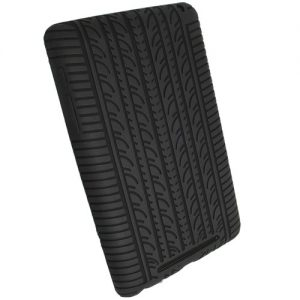 iGadgitz Black Silicone Skin Case Cover with Tyre Tread Design for Google Nexus 7 2012 1st Generation Android 4.1 Tablet 8GB 16GB + Screen Protector (NOT suitable for the 2nd Generation August 2013)
