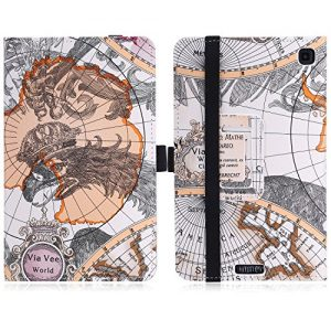 Fire HD 6 Case - MoKo Slim Folding Cover for Amazon Kindle Fire HD 6 Inch 2014 Tablet, Map A