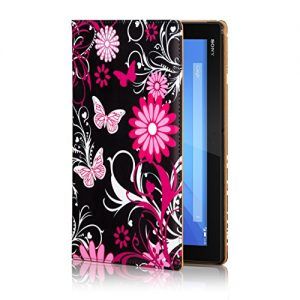 32nd® Designer Book Style Faux Leather Folio Case Cover for Sony Xperia Z4 Tablet (SGP771) - Gerbera Design