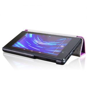 ForeFront Cases® New Google Nexus 7 FHD Leather Case Cover / Stand For Google Nexus 7 FHD Tablet (7-Inch, 16GB, Black) by ASUS (2013) with Magnetic Auto Sleep Wake Function + Stylus Pen Worth £4.50 - PURPLE