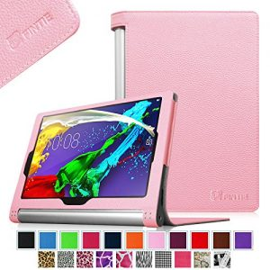 Fintie Lenovo Yoga Tablet 2 10.1 Folio Case Cover with Auto Sleep / Wake Feature (Fit Lenovo Yoga Tablet 2 10.1-Inch Android and Windows Version), Pink