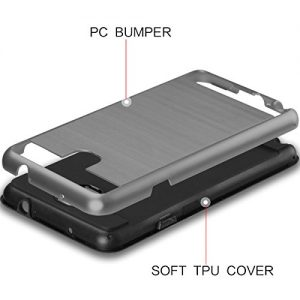 Galaxy Note 3 Case, Coolden® Galaxy Note 3 Defender Protective Case Shock-Absorption Bumper Hard Hybrid Slim Armor Premium Case Cover for Samsung Galaxy Note 3 (Grey)