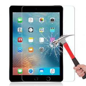 OMOTON iPad Pro 9.7 Screen Protector [Apple Pencil Compatible - Tempered Glass] for iPad Pro with [2.5D Round Edge] [9H Hardness] [Crystal Clear] [Scratch Resist] for Apple iPad Pro 9.7 inch
