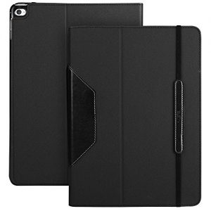 iPad Air 2 Case, ESR® PU Leather Tablet Case Folio Case Stand Case with Auto Wake Up/Sleep Function and Strap for iPad Air 2 / iPad 6th Generation (Black)
