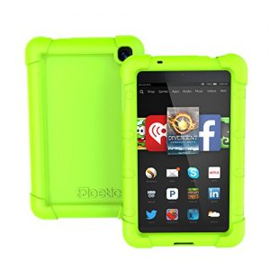 Fire HD 6 Case - Poetic Amazon Fire HD 6 Case [TURTLE SKIN Series] - Rugged Silicone Case for Amazon Kindle Fire HD 6 (2014) Green (3-Year Manufacturer Warranty from Poetic)