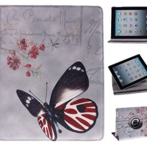 Multi-Function Leather Stand Case / Cover / Viewing Stand For Apple iPad 4 v4 4th Generation, Also fit for iPad 3 & iPad 2 , Full Premium Leather (PU) + PC Surface, KXC0024 Cherry