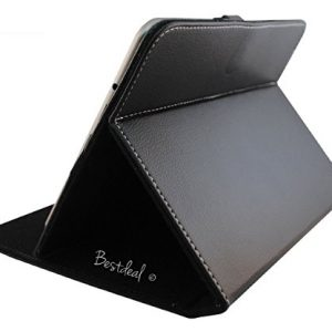"Black PU Leather Case & Stand for LINX 1010B 10.1"" inch Tablet PC + Stylus Pen"