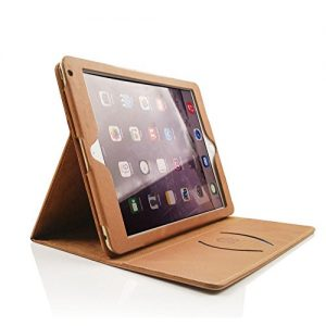 Boriyuan iPad Pro 9.7 Case,Personalised Vintage Genuine Leather Slim-Stand Case Cover for Apple iPad Pro 9.7 inch[Launched 2016]with Magnetic Auto Wake & Sleep Function(Brown) Free Screen Protector + Stylus
