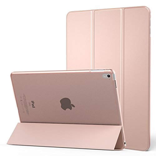 iPad Pro 9.7 Case, MoKo Ultra Slim Lightweight Smart-shell Stand Cover with Translucent Frosted Back Protector for Apple iPad Pro 9.7 Inch 2016 Release Tablet, Rose GOLD (with Auto Wake / Sleep)