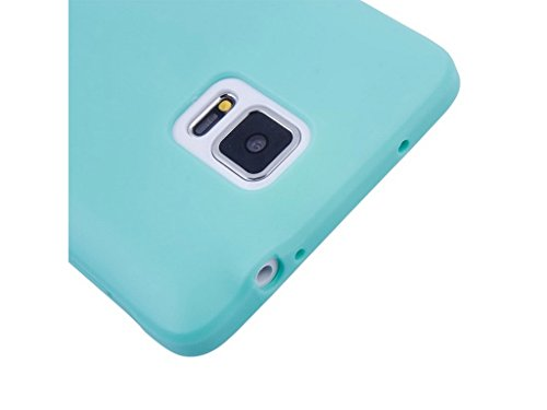 Samsung Galaxy Note 4 Case, Fone-Stuff® - Full Body Silicone Gel Skin Cover with See Through Touchable Wallet Flip Screen Protector in Green