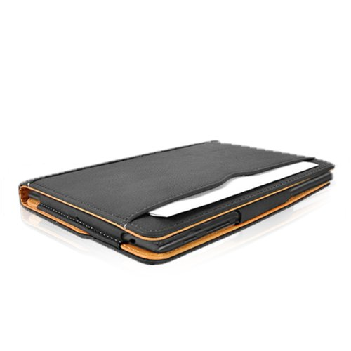MOFRED® Black & Tan Google Nexus 7 2 II (Launched 2013) Leather Case-MOFRED®- Executive Multi Function Leather Standby Case for Google Nexus 7 with Built-in magnet for Sleep & Awake Feature
