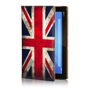 32nd® Designer Book Style Faux Leather Folio Case Cover for Sony Xperia Z4 Tablet (SGP771) - Union Jack UK Flag Design