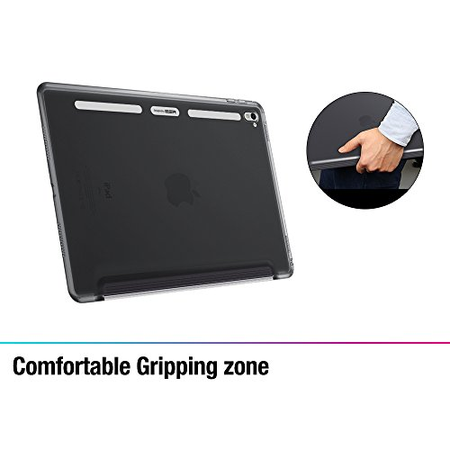 iPad Pro 9.7 Case, ESR® Clear Back Shell Case with Soft TPU Bumper Edge [Perfect Fit with Smart Keyboard] for iPad Pro 9.7 inch Case [Launched 2016] (Grey)