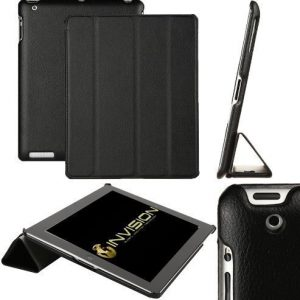 "Invision® iPad 2 iPad 3 & iPad 4 Smart Case Cover, Superior Design Features, Magnetic Auto Wake/Sleep Function, Quality PU Leather, Recommended by ""Which?"" Magazine (iPad 2 3 4 Black)"