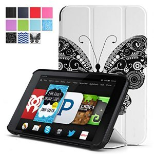 Fire HD 6 Case - Poetic Amazon Fire HD 6 Case [SLIMLINE Series] - Slim Graphic Folio Case for Amazon Kindle Fire HD 6 (2014) Butterfly (3-Year Manufacturer Warranty from Poetic)