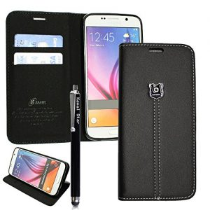 GSD STYLE YOUR MOBILE {TM} SONY XPERIA Z3 COMPACT / Z3 MINI D5803 / D5833 PU LEATHER CARD MONEY POCKET MAGNETIC FLIP CASE COVER +STYLUS (KStar Luxury Black Book)