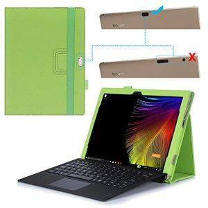 Lenovo ideapad MIIX 700 Case - AVIDET High Quality Slim-Book Stand PU Leather Case Cover for Lenovo ideapad MIIX 700 (Green)