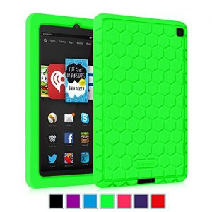Fintie Fire HD 6 2014 Case - [Honey Comb Series] Light Weight [Anti Slip] Shock Proof Silicone Protective Cover [Kids Friendly] for Amazon Kindle Fire HD 6-Inch Tablet 2014 Release, Green