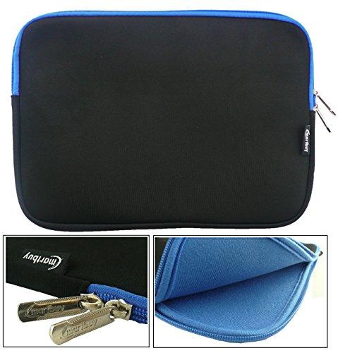 Emartbuy Water Resistant Neoprene Soft Zip Case Cover Sleeve for 10.1-Inch Lenovo Ideapad Miix 300 Tablet - Black/Blue