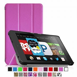 Fintie Fire HD 6 Case - Ultra Slim Lightweight SmartShell Cover with Auto Sleep / Wake Feature (will only fit Amazon Kindle Fire HD 6, 6-Inch HD Display Tablet 4th Generation - 2014 Release), Violet