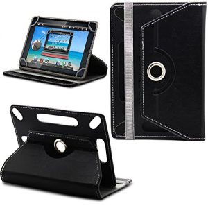 360° New TAN Universal Leather Stand Case Cover For Linx 7 inch Tablet - Plain Black ( Designer - Folio - Colourful )