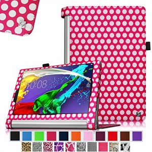 Fintie Lenovo Yoga Tablet 2 10.1 Folio Case Cover with Auto Sleep / Wake Feature (Fit Lenovo Yoga Tablet 2 10.1-Inch Android and Windows Version), Polkadot Pink