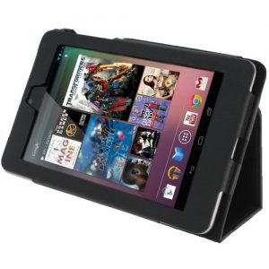 iGadgitz Black 'Ergo-Portfolio' PU Leather Case Cover for Google Nexus 7 2012 1st Generation Android 4.1 Tablet 8GB 16GB. With Sleep Wake Function (NOT suitable for the 2nd Generation August 2013)