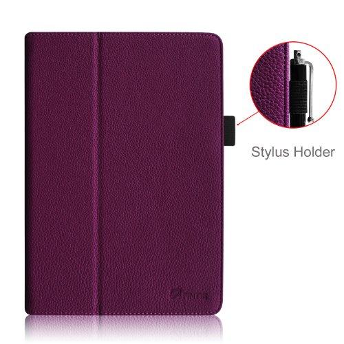 Fintie iPad Air Case - Slim Fit Premium Vegan Leather Folio Case with Smart Cover Auto Sleep / Wake Feature for Apple iPad Air (iPad 5th Generation) 2013 Model, Purple