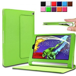 Infiland Lenovo Yoga Tablet 2 8.0 tablet Case Cover- Folio PU Leather Slim Stand Case Cover for Lenovo Yoga Tablet 2 8-Inch (with Auto Sleep / Wake Feature)(Green)