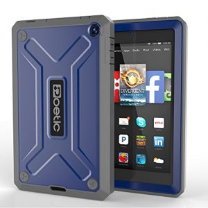 Fire HD 6 Case - Poetic Amazon Fire HD 6 Case [REVOLUTION Series] - Rugged Hybrid Case with Built-in Screen Protector for Amazon Kindle Fire HD 6 (2014) Cobalt (3-Year Manufacturer Warranty from Poetic)