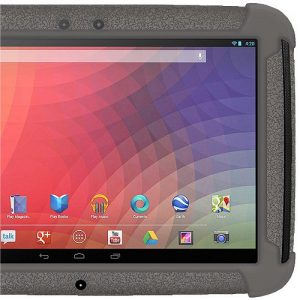 Amzer Exclusive Silicone Skin Jelly Case Cover for Google/Samsung Nexus 10 - Grey