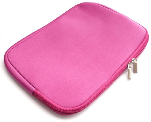 Emartbuy Water Resistant Neoprene Soft Zip Case Cover Sleeve for 10.1-Inch Lenovo Ideapad Miix 300 Tablet - Hot Pink