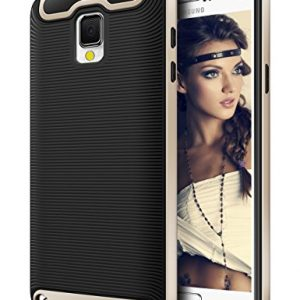 Galaxy Note 3 Case, Coolden® Dual Layer Shockproof Defender Case Silicone Gel Cover Shock Absorption Bumper Slim Armor Protective Case Cover for Samsung Galaxy Note 3 (Gold&Black)