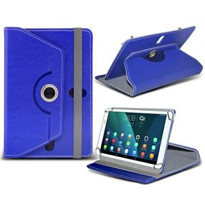 (Blue) Linx 810 [8 inch ] Case [Stand Cover] for Linx 810 [8 inch ] Tablet PC Case Cover [Stand Cover] Durable Synthetic PU Leather 360 Roatating cover Case [Stand Cover] with 4 springs by i- Tronixs