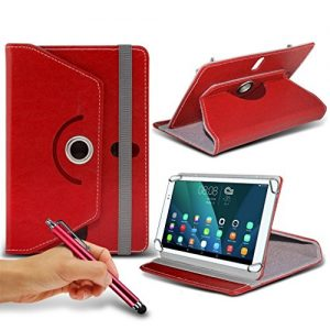 (Red) Asus ZenPad S 8.0 2 [8 inch ] Case [Stand Cover] forAsus ZenPad S 8.0 2 [8 inch ] Tablet PC Case Cover [Stand Cover] Durable Synthetic PU Leather 360 Roatating cover Case [Stand Cover] with 4 springs by i- Tronixs