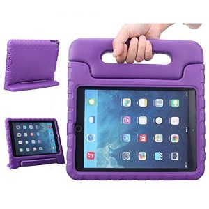 iPad Air Case, TabPow [Kids Case] - [Shockproof][Drop Protection][Heavy Duty] Kids Children EVA Case Cover with Carrying Handle Stand For Apple iPad Air / iPad 5th Generation (Purple)