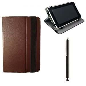 """10.1"""" Inch Brown Executive Switch Tablet Case fits ARGOS BUSH MYTABLET , DRAGON TOUCH 10"""" , LINX 1010 Windows 10 Tablet 10.1 Inch Tablet & Stylus"""