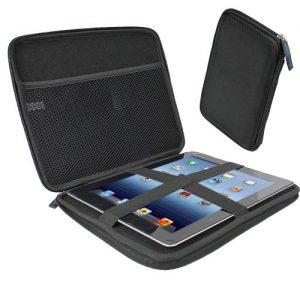 iGadgitz Black EVA Travel Hard Case Cover Sleeve for Apple iPad 2, 3, 4 With Retina, Air 2013 & New iPad Air 2