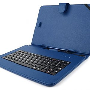 DURAGADGET Blue Keyboard Case for Linx 1010 Windows 8 Tablet & Linx 10 Inch - Durable Faux Leather Protective Case Cover With Micro USB Keyboard