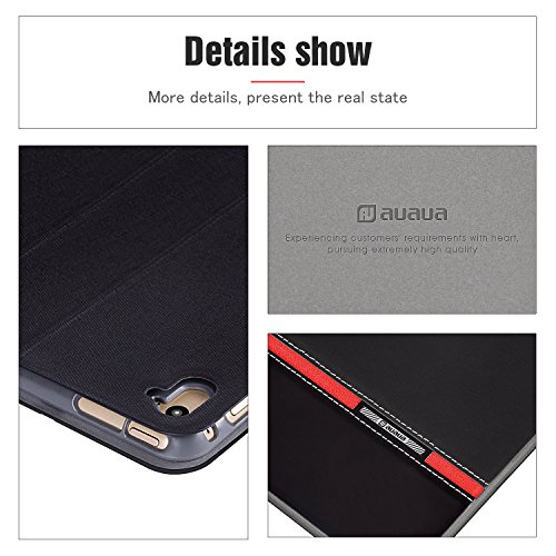 AUAUA iPad Pro 9.7 Case, iPad Pro 9.7 Leather Case with Smart Cover Auto Sleep/Wake +Screen Protection Film for Apple iPad Pro 9.7 inch Apple Tablet (Blank)