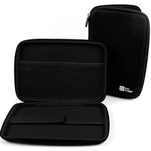 Black Rigid Protective Armoured Case with Netted Interior Pocket and Elasticated Strap for the Linx Vision 8 inch Tablet (without Xbox Controller attached) - by DURAGADGET
