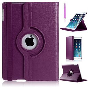 iPro Products Rotating 360 Degree PU Leather Case Cover for iPad 2/3/4 (iPad 2/3/4, PURPLE)