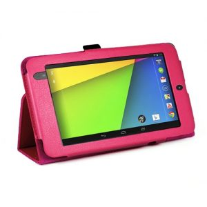 MOFRED® Hot Pink New Google Nexus 7 2 II Tablet (Launched July 2013) Case-MOFRED® Executive Multi Function Standby Case with Built-in Magnet for Sleep / Wake feature for the Google Nexus 7 II-2nd Generation Tablet 16GB or 32GB ,Qualcomm Snapdragon S4 1.5GHz Processor, 2GB RAM, WLAN, NFC, BT, 2x camera, Android 4.3 + Screen Protector + Stylus Pen (Available in Mutiple Colors)