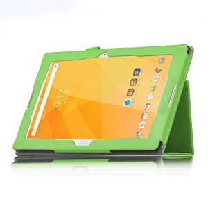 Acer Iconia One 10 B3-A20 Case - IVSO Slim-Book Stand Cover Case for Acer Iconia One 10 B3-A20 10.1-Inch Tablet (Green)