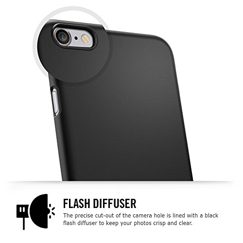 iPhone 6 Case, Spigen® [Non-Slip] [Perfect-Fit] iPhone 6 (4.7) Case Slim **NEW** [Fit Series] [Thin Fit] [Smooth Black] Premium SF Coated Non Slip Surface with Excellent Grip Matte Hard Case – ECO-Friendly Packaging – Slim Case for iPhone 6 (4.7) (2014) – Smooth Black (SGP10936)