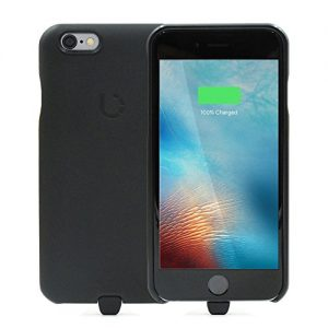 "BEZALEL Latitude [Apple MFi Certified] Qi + PMA Dual-Mode Universal Wireless Charging Case for iPhone 6 6S (4.7"") Compatible with Qi Powermat Wireless Chargers - Black"
