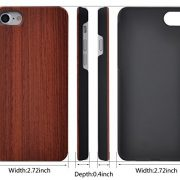 ZenNutt iPhone 7 Case Handmade Natural Wood Slim Shockproof Protective Cover for iPhone 7 4.7 inch [Lifetime Warranty]