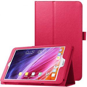 Acer Iconia One 8 B1-820 case, Pasonomi® Premium PU Leather Folio Case Stand Cover for Acer Iconia One 8 B1-820 8 inch Tablet (Litchi Series Hot Pink)