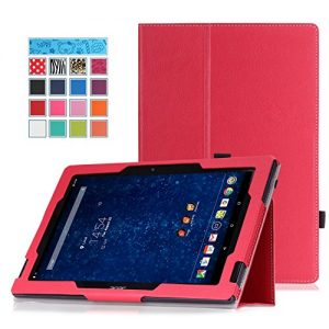 ACER Iconia Tab 10 A3-A30 Case - MoKo Slim Folding Cover Case for Acer Iconia Tab 10 A3-A30 10.1-Inch 2015 Android Tablet, RED